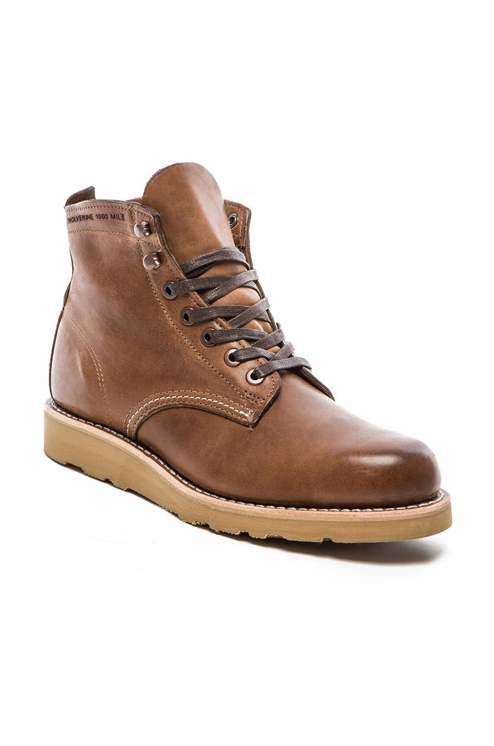wolverine 1000 mile prestwick 6 quot wedge boot in brown lyst