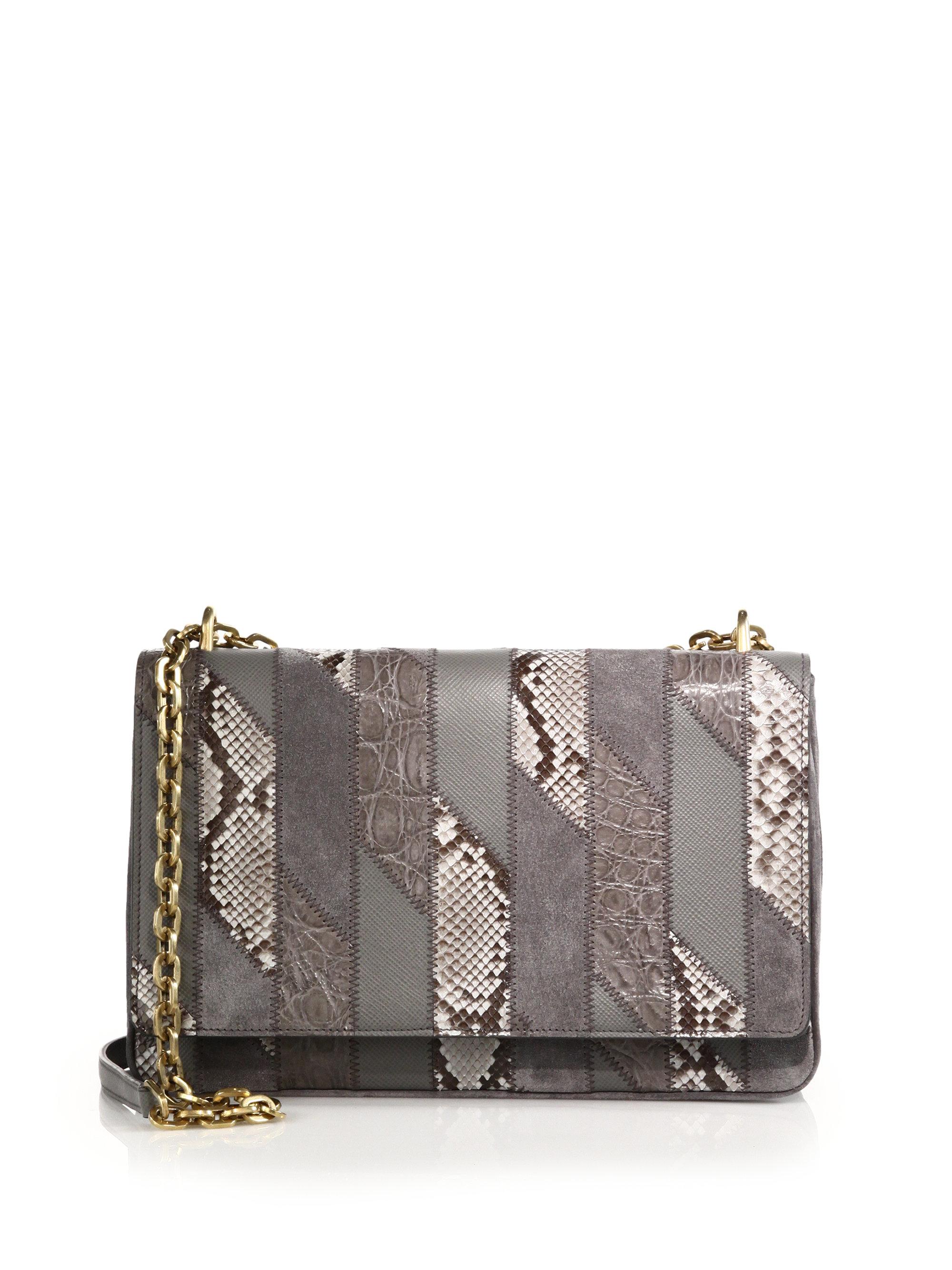 prada fringe clutch - Prada Patch Shoulder Bag in Animal (grey) | Lyst