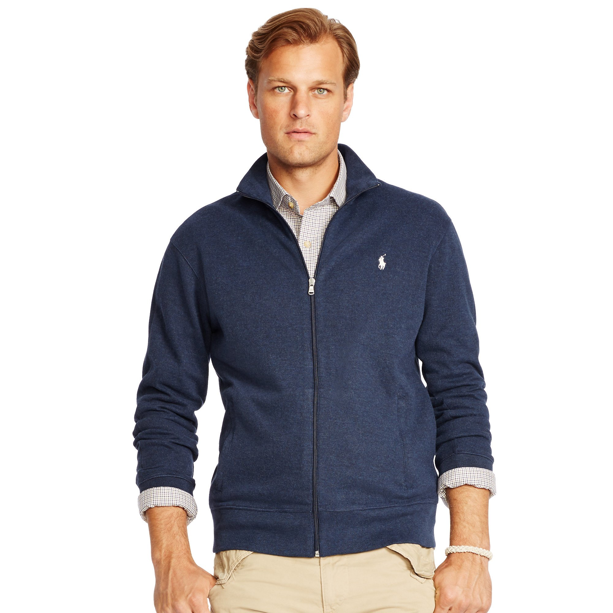 pink pony french rib full zip jacket in blue for men lyst. Black Bedroom Furniture Sets. Home Design Ideas