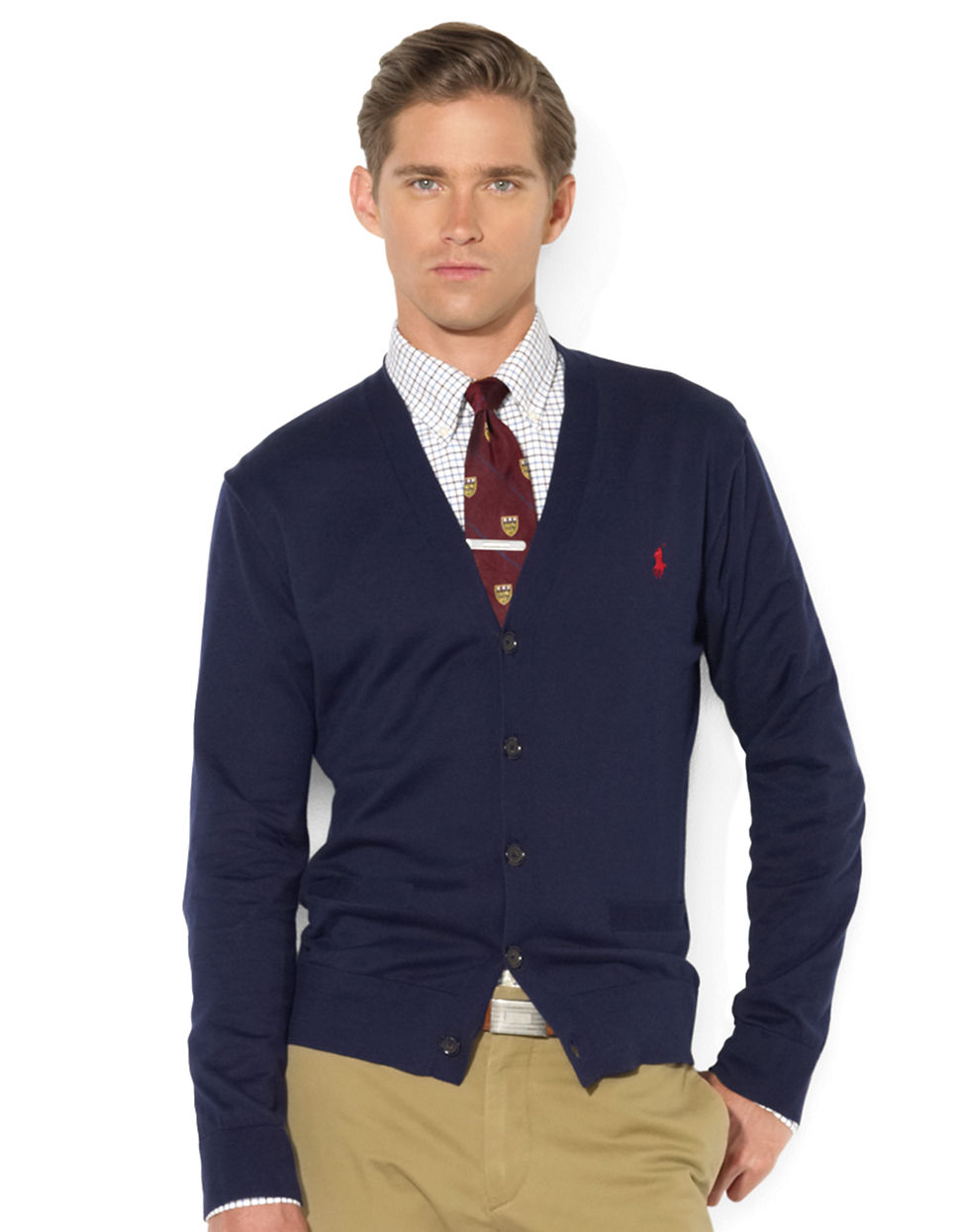 Mens Polo Zip Sweater