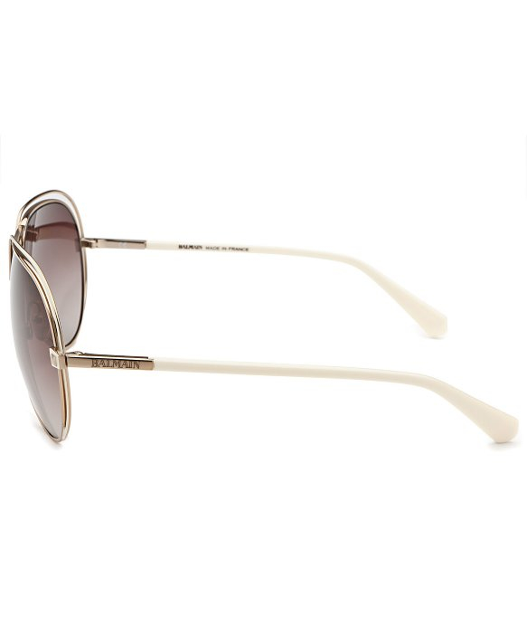 Balmain Aviator Sunglasses  balmain aviator gold tone and white sunglasses in metallic for men