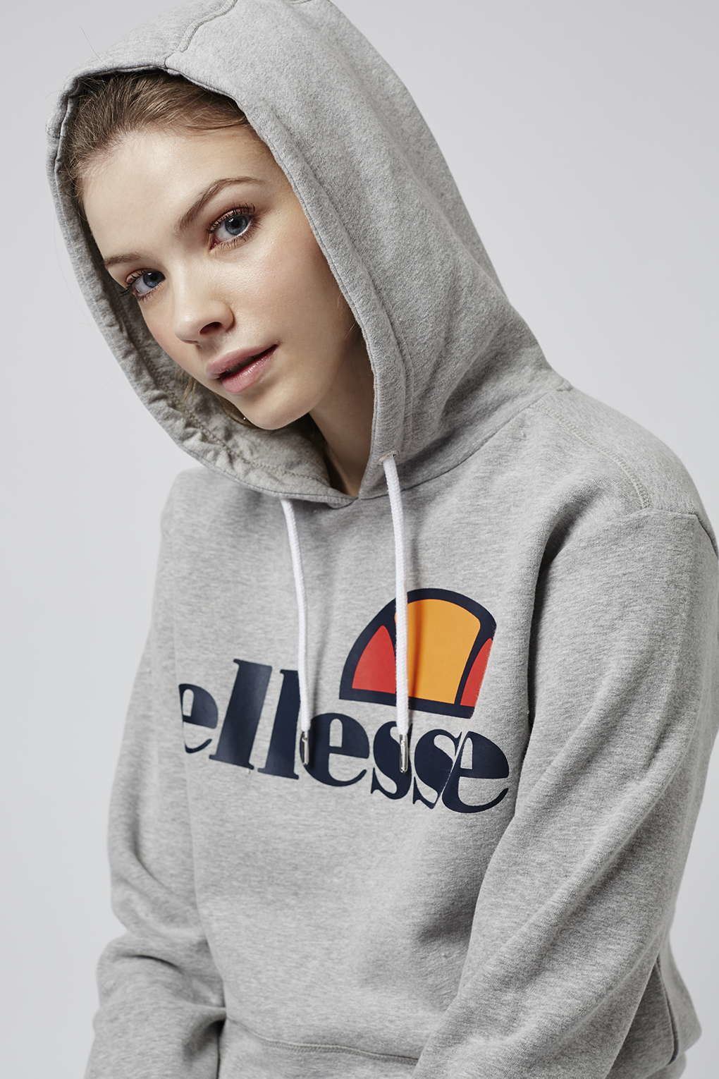 8f86d0fc4e TOPSHOP Gray Oversized Hoodie By Ellesse