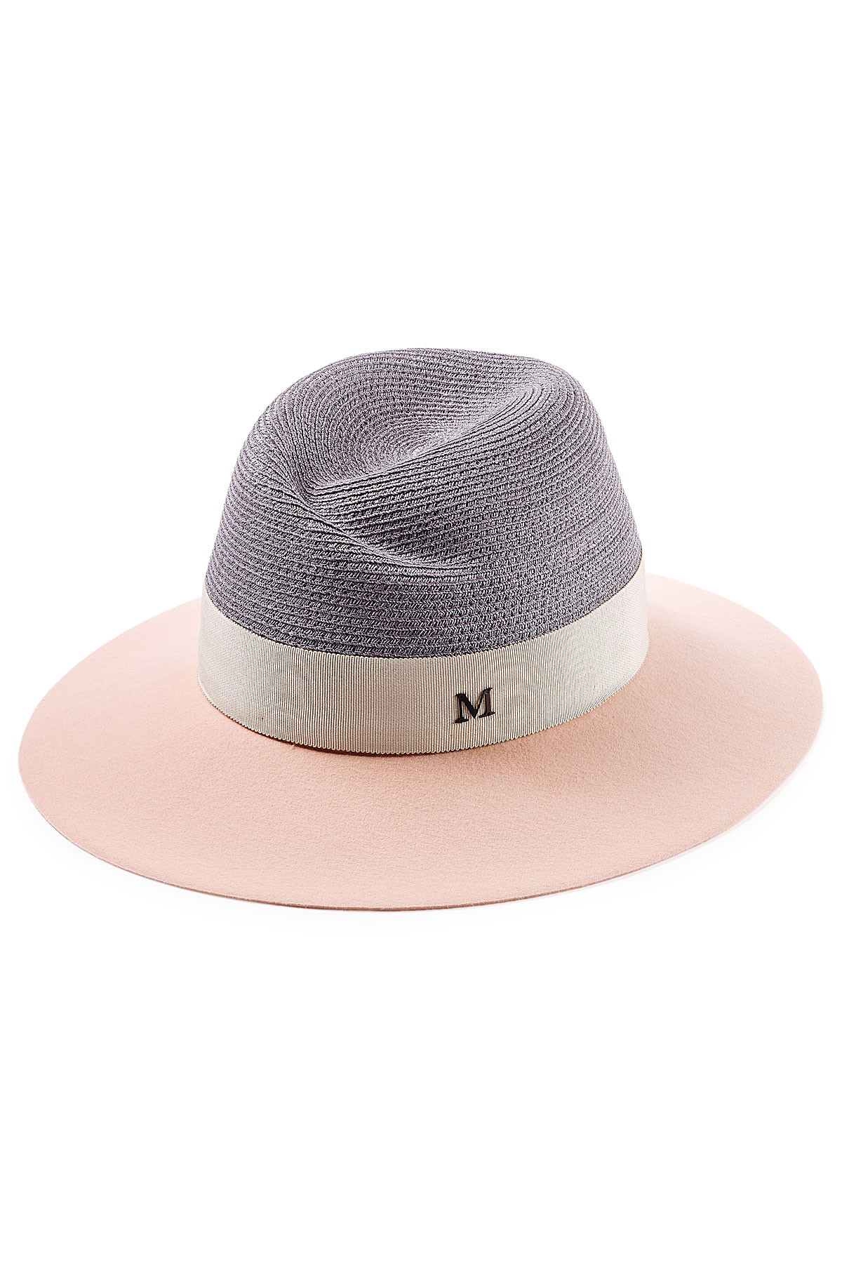 Lyst - Maison Michel Virginie Felt And Straw Hat in Pink 0655ed6e6f0d