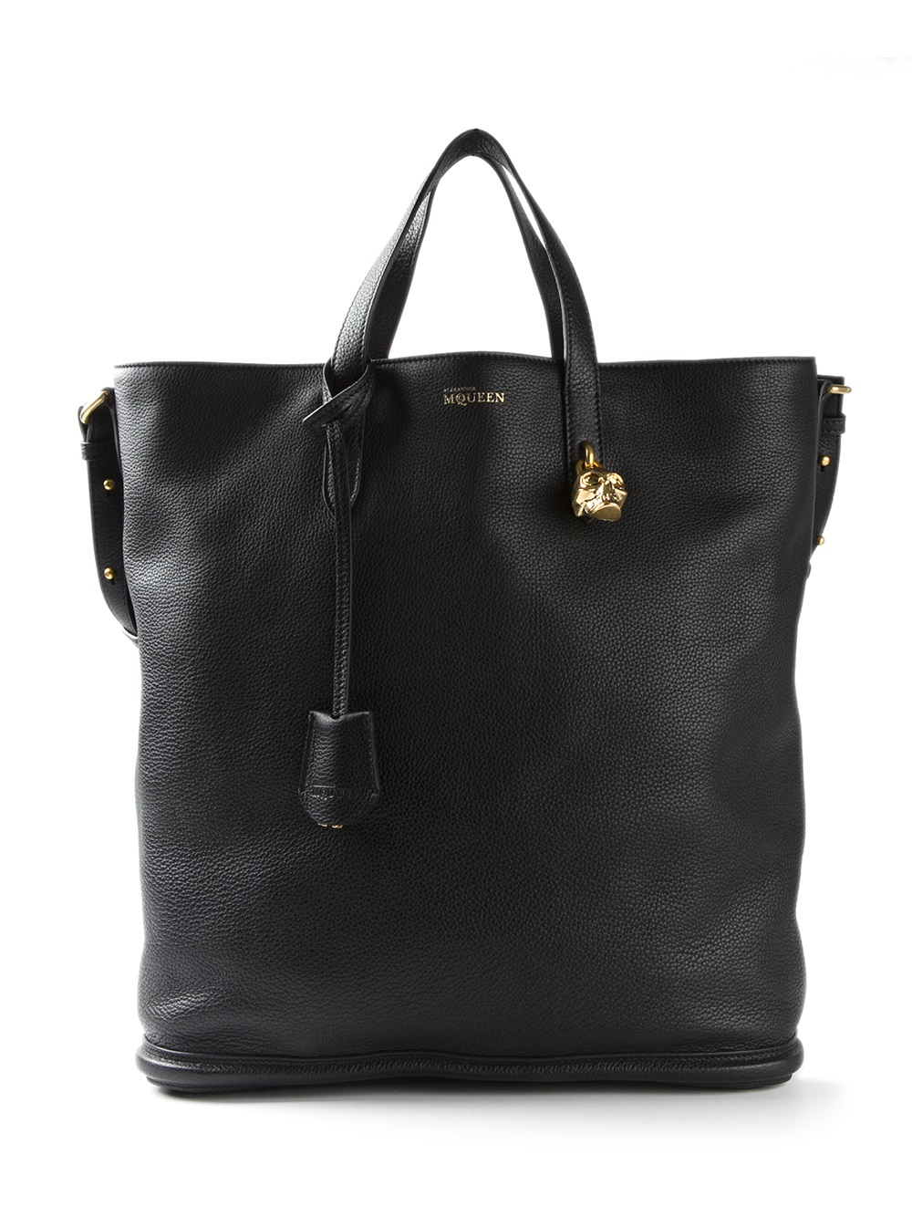 Alexander Mcqueen Large Shopper Bag In Black Lyst