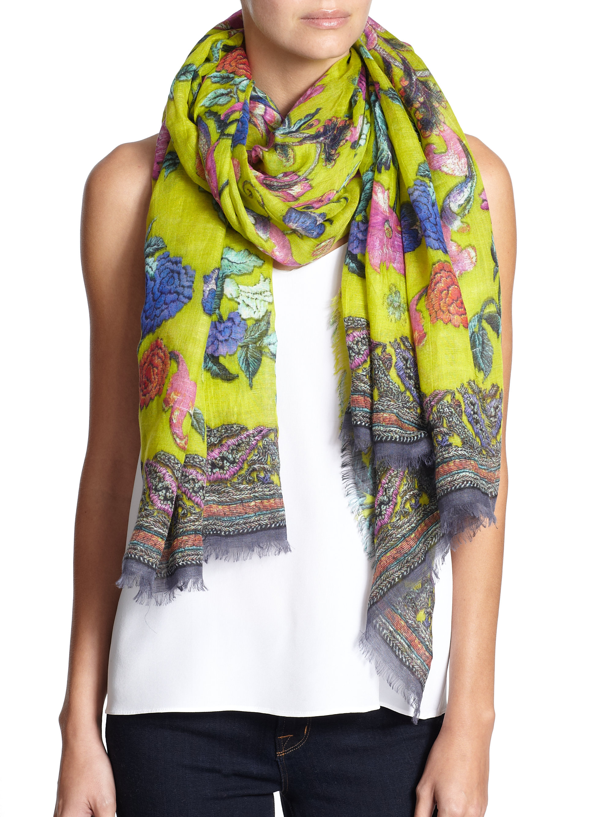 vase silk a modal l franco with ferrari scarves scarf design spring tilo lyst the graphic of