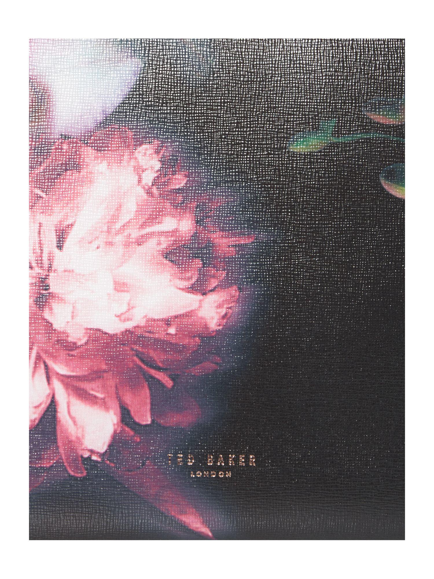 Ted Baker Lietta Black Floral Large Tote Bag in Pink