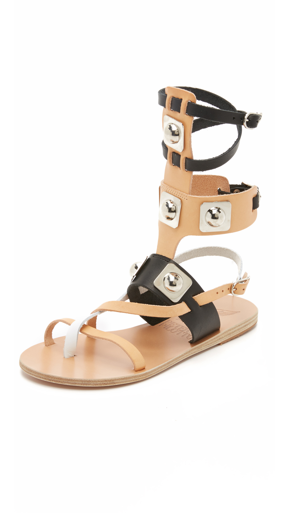 Ancient Greek Sandals Leather For Peter Pilotto Gladiator