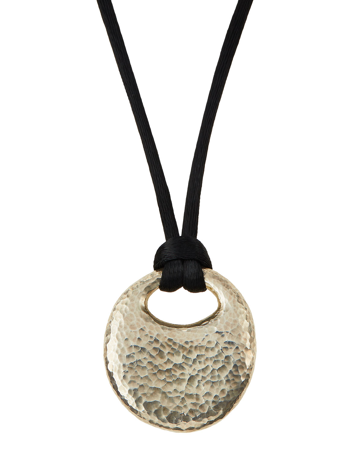 Gurhan Sterling Pebble Pendant & Silk Cord Necklace in ...