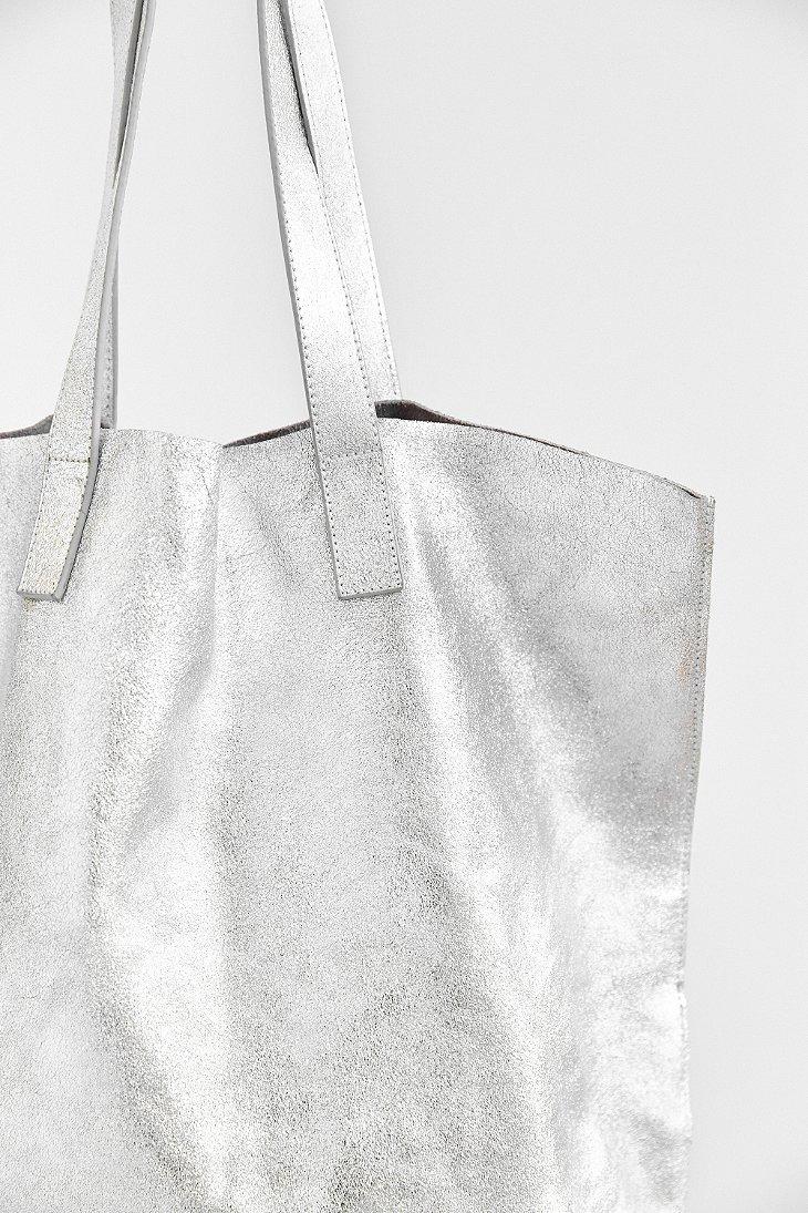 Lyst - Silence + Noise Metallic Leather Tote Bag in Metallic aea92501aed51