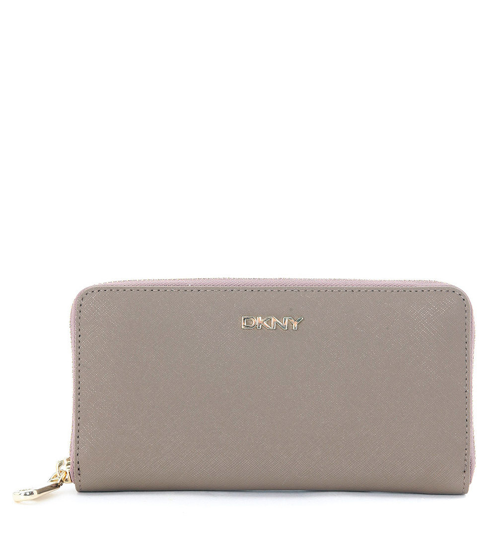 Dkny taupe saffiano leather wallet in beige lyst - Beige slaapkamer taupe ...