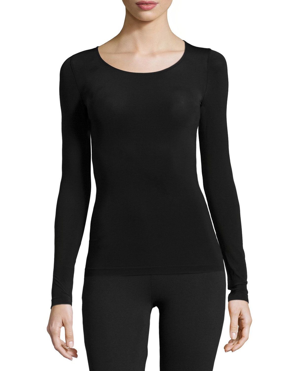 Wolford Buenos Aires Long Sleeve Pullover Top In Black Lyst