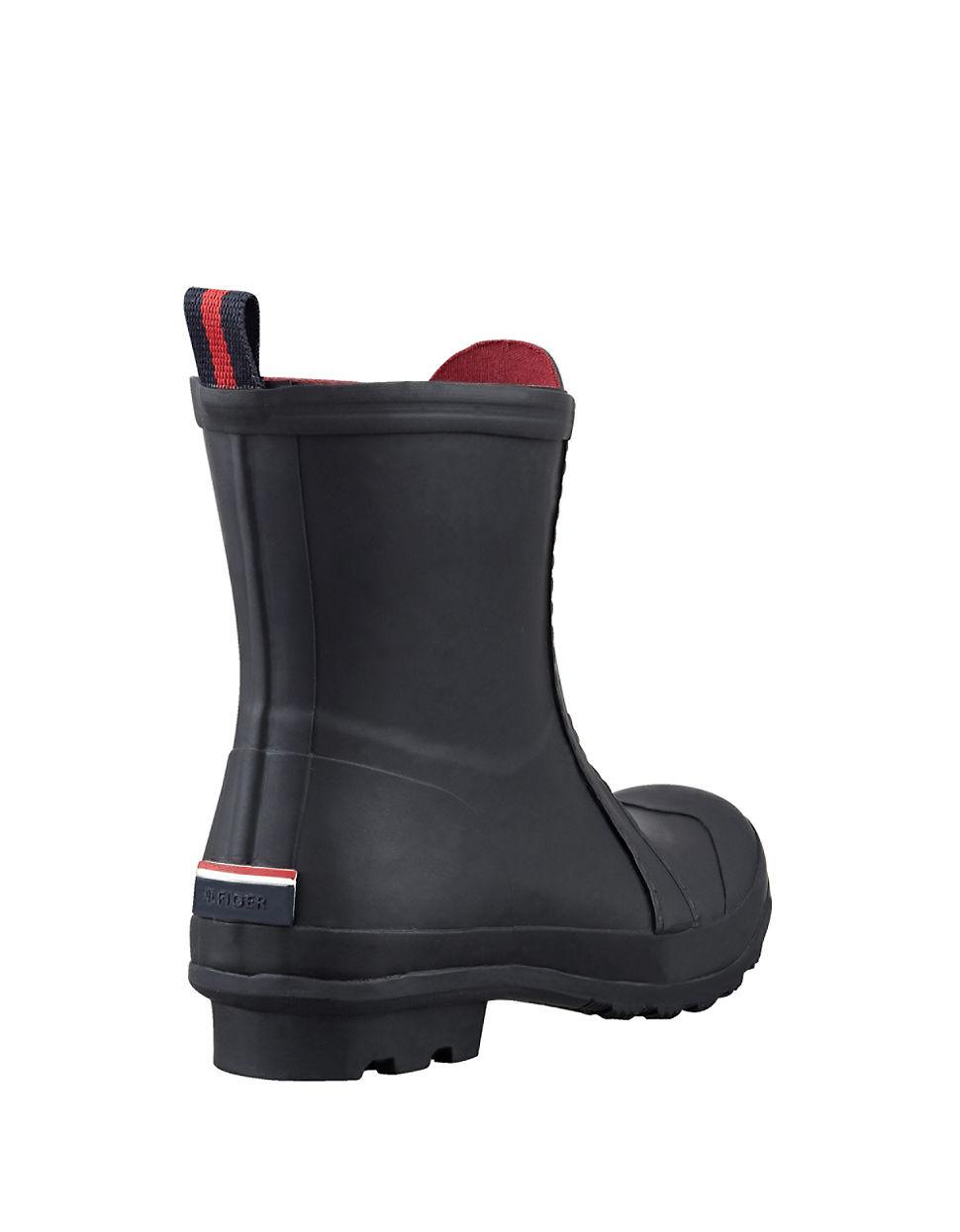 Tommy Hilfiger Rubber Ryann Zip-Up Rain Boot In Black - Lyst-6799
