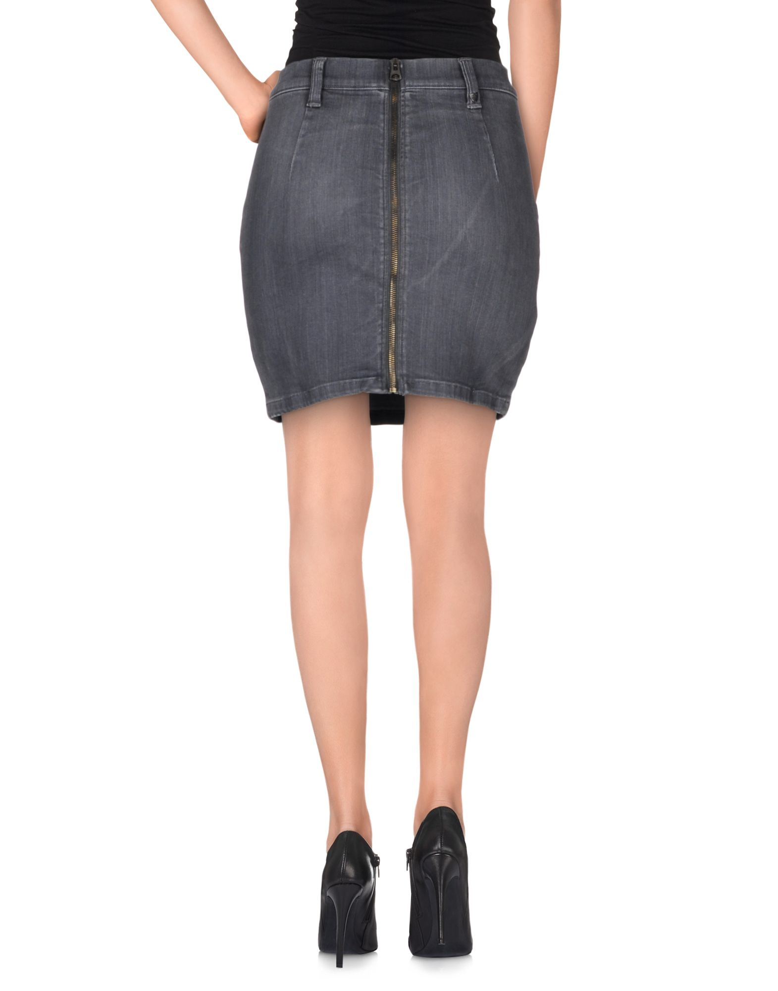 htc denim skirt in gray lyst