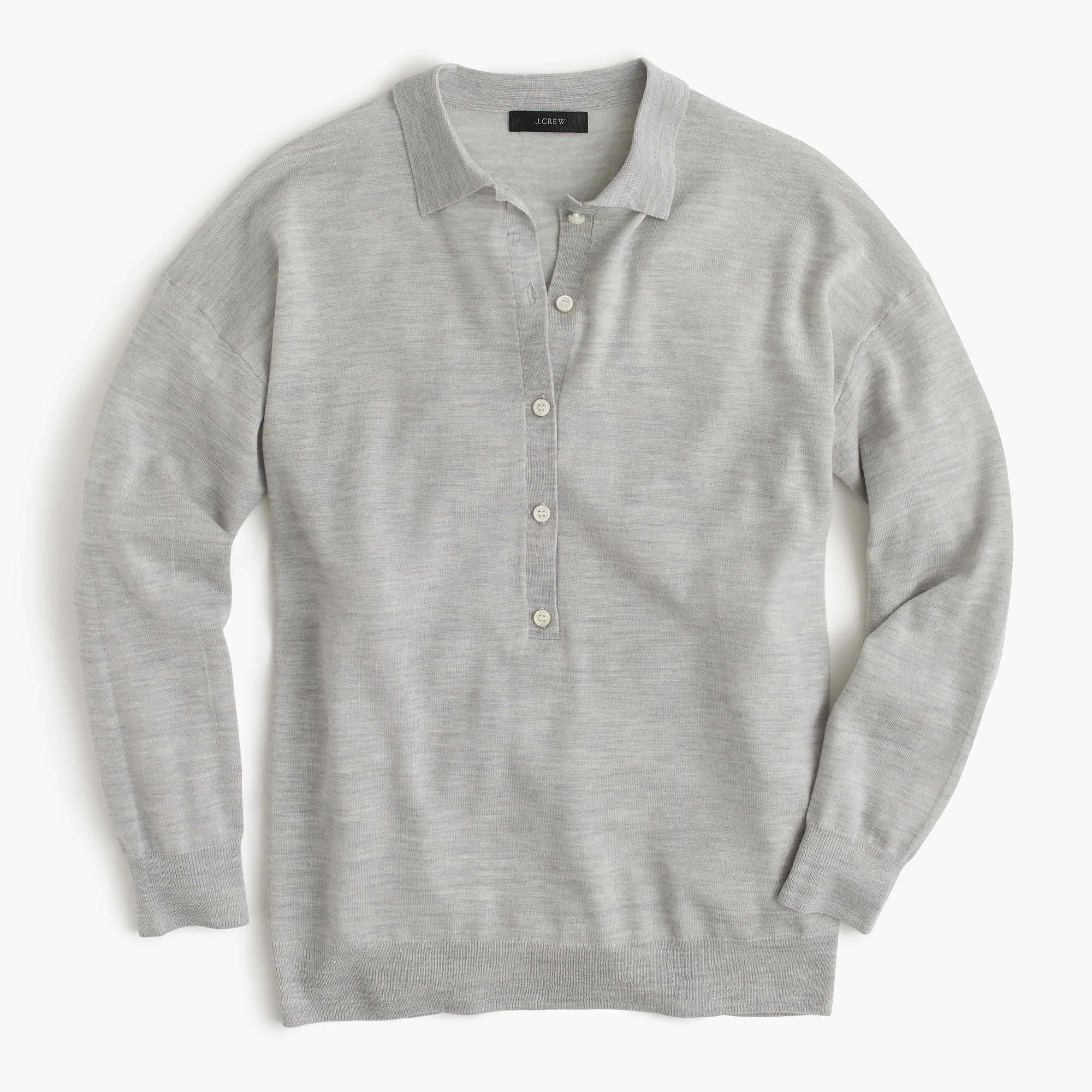 f484abf70 ... france lyst j.crew featherweight merino wool long sleeve polo shirt in  832a4 48a5e