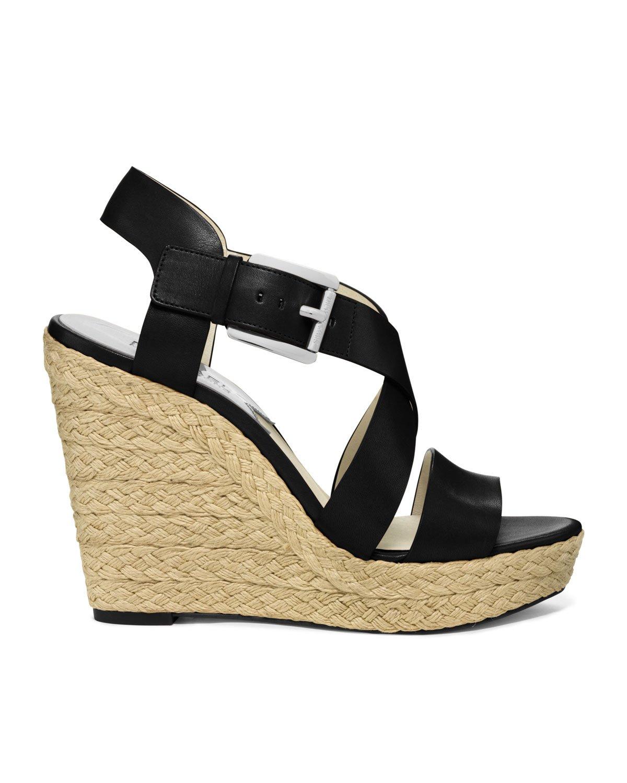 Lyst Michael Kors Giovanna Espadrille Wedge Sandal In Black