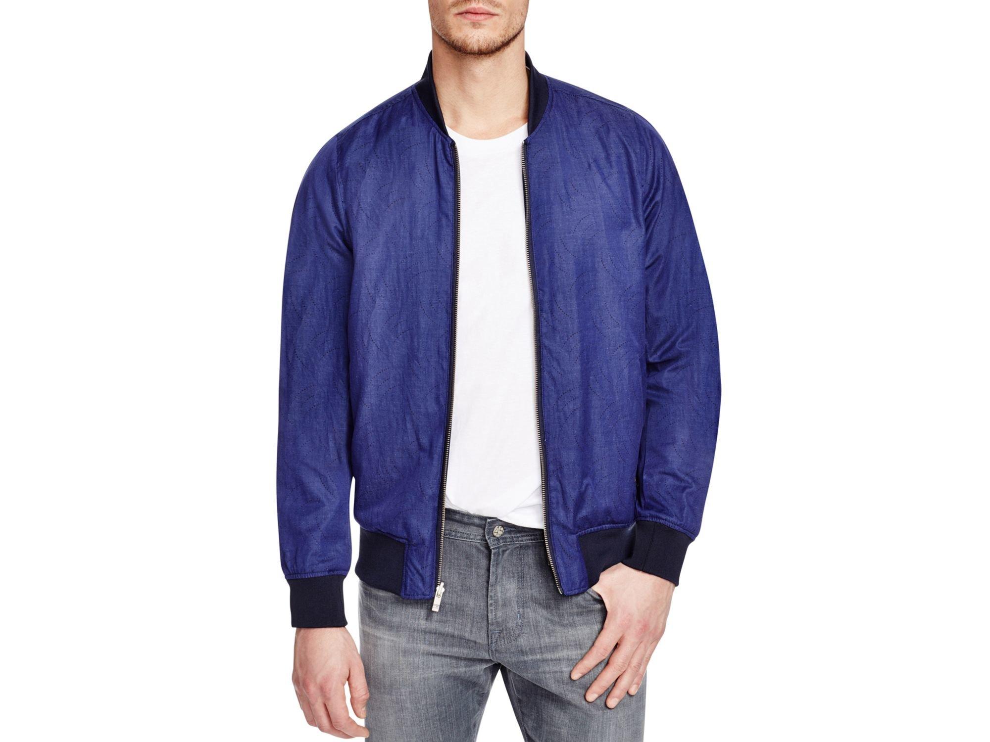 scotch soda reversible bomber jacket in blue for men lyst. Black Bedroom Furniture Sets. Home Design Ideas