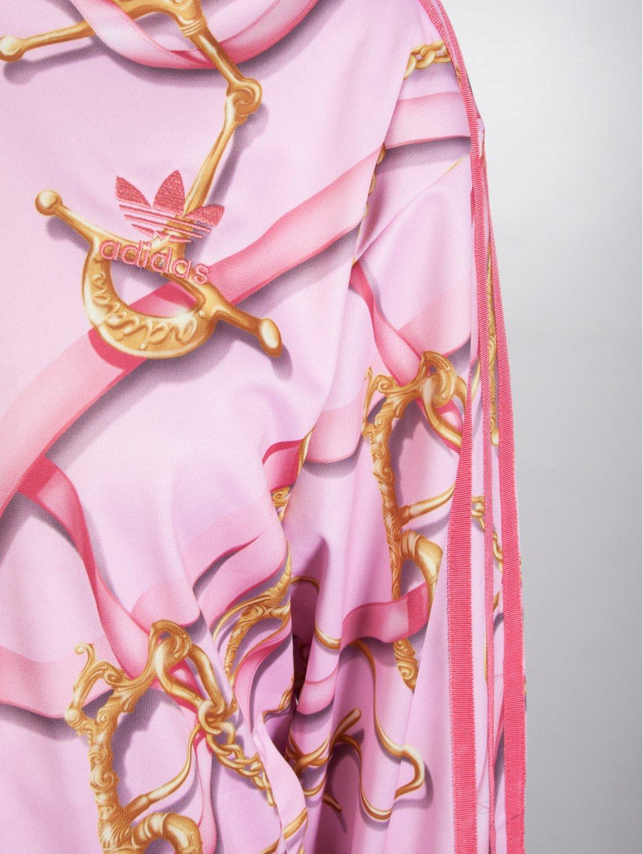 545af9f3f203 Jeremy Scott for adidas Scarf Print Hooded Zip Jacket Pink in Pink ...