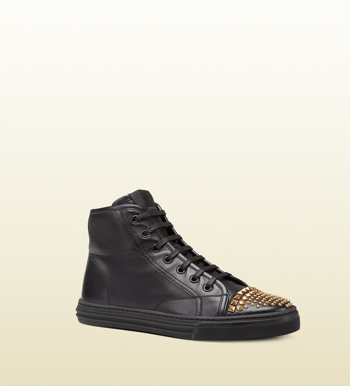Gucci Shoes Black High Top Sneaker