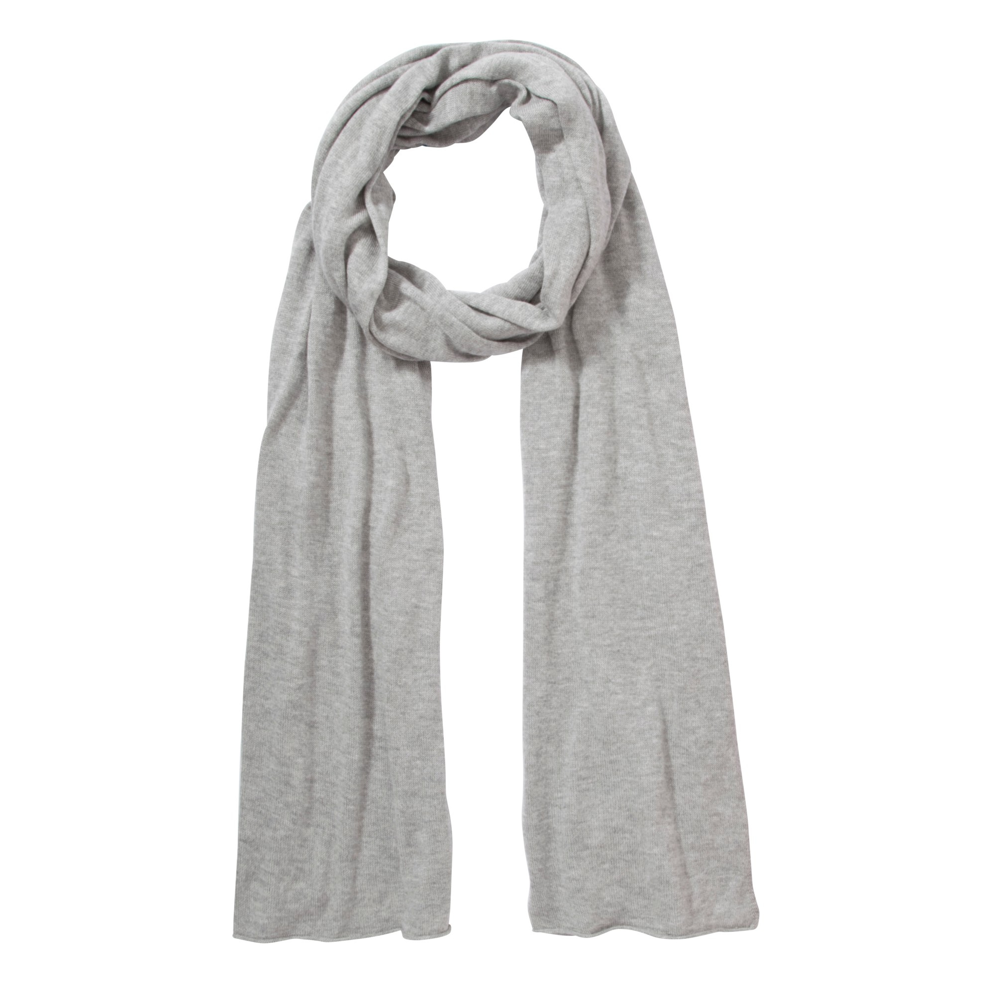 lewis plain knit scarf in gray grey lyst