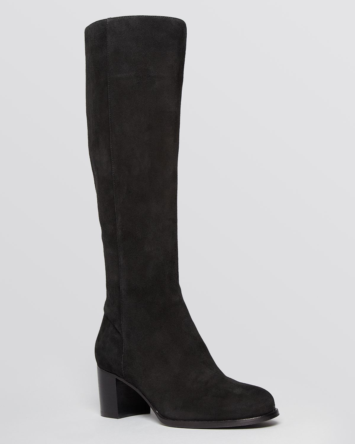 via spiga boots keshi suede in black lyst
