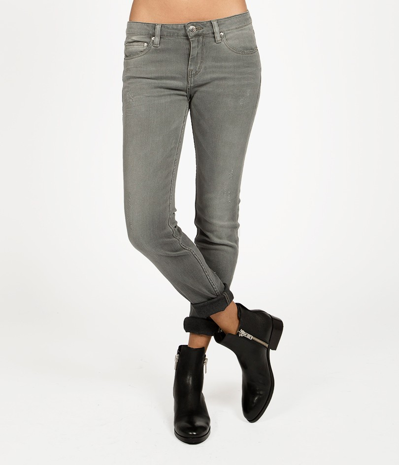 iro night skinny jeans in gray lyst. Black Bedroom Furniture Sets. Home Design Ideas