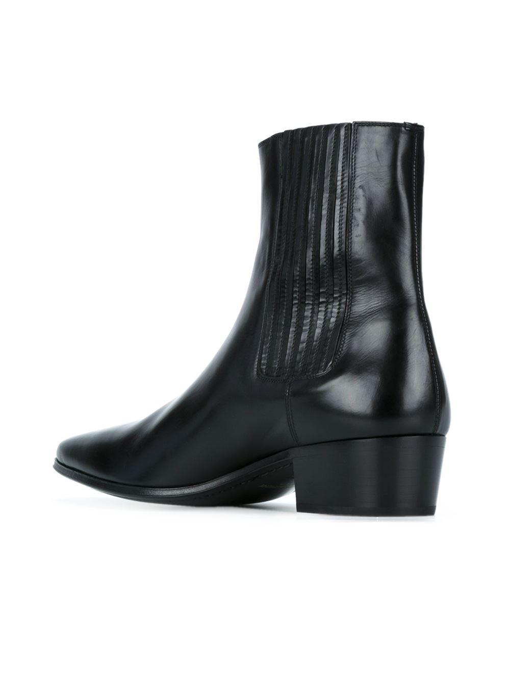 6f7b58cea89 Saint Laurent Black 'hedi 40' Ankle Boots for men