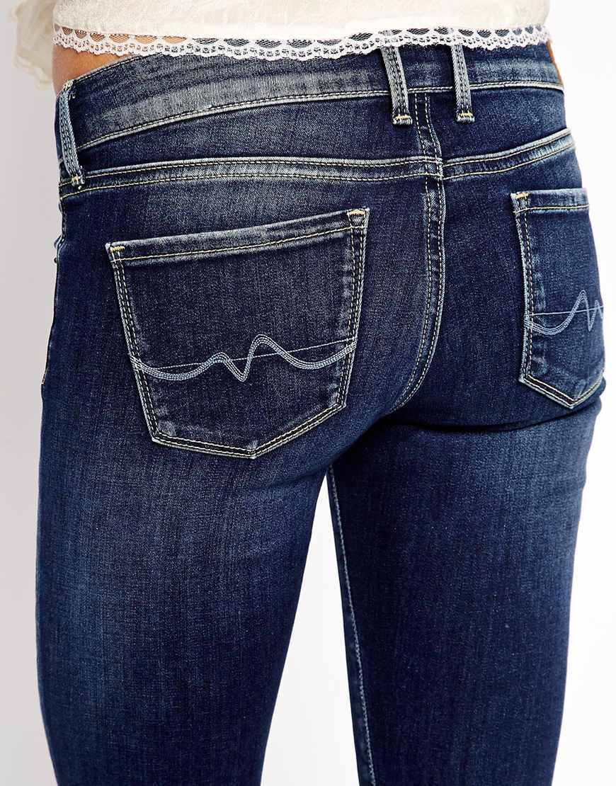pepe jeans soho skinny jeans in blue lyst. Black Bedroom Furniture Sets. Home Design Ideas