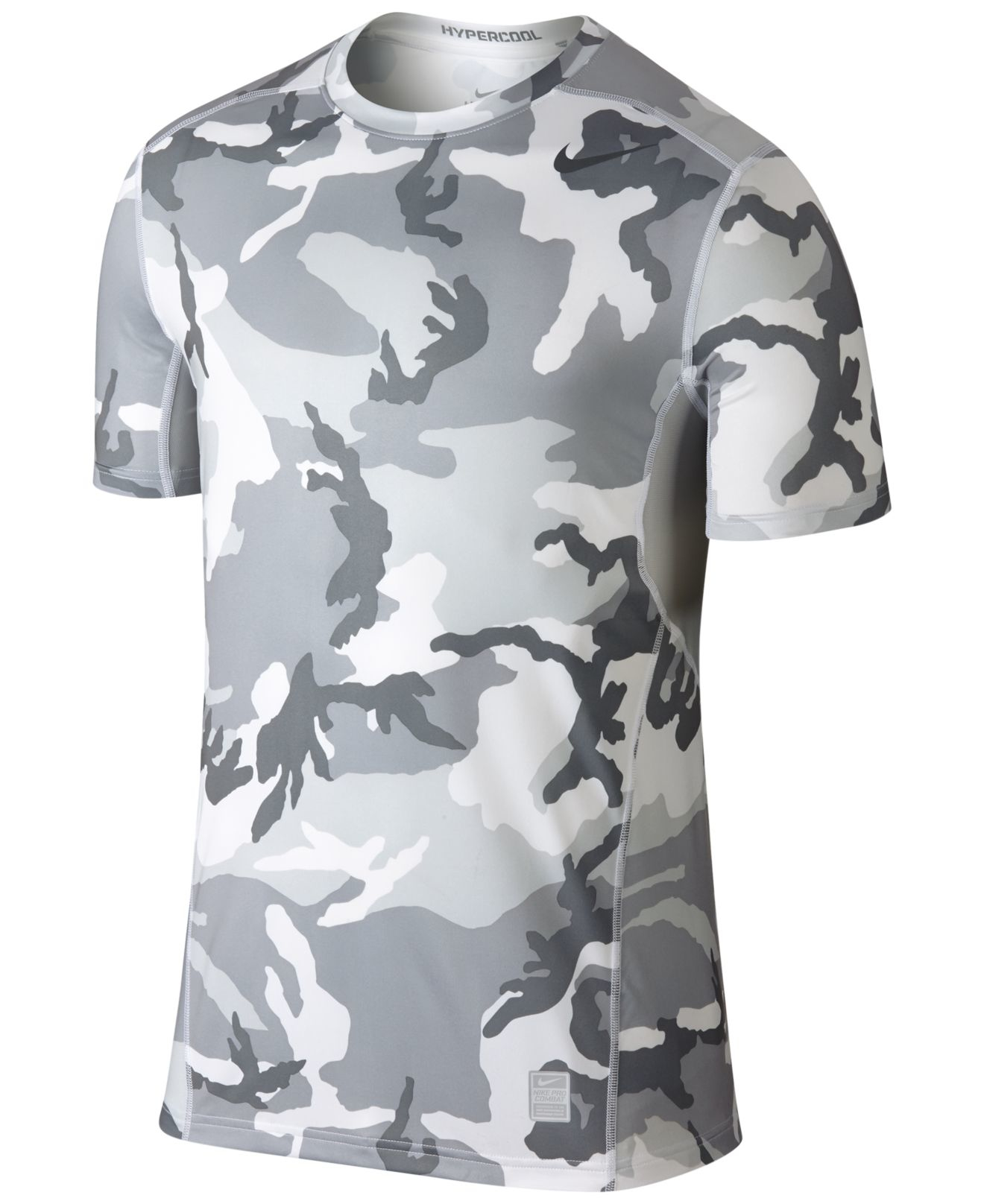 Abolido contrabando minusválido  to9a543 favorite lyst nike hypercool dri fit camo t shirt in gray ...