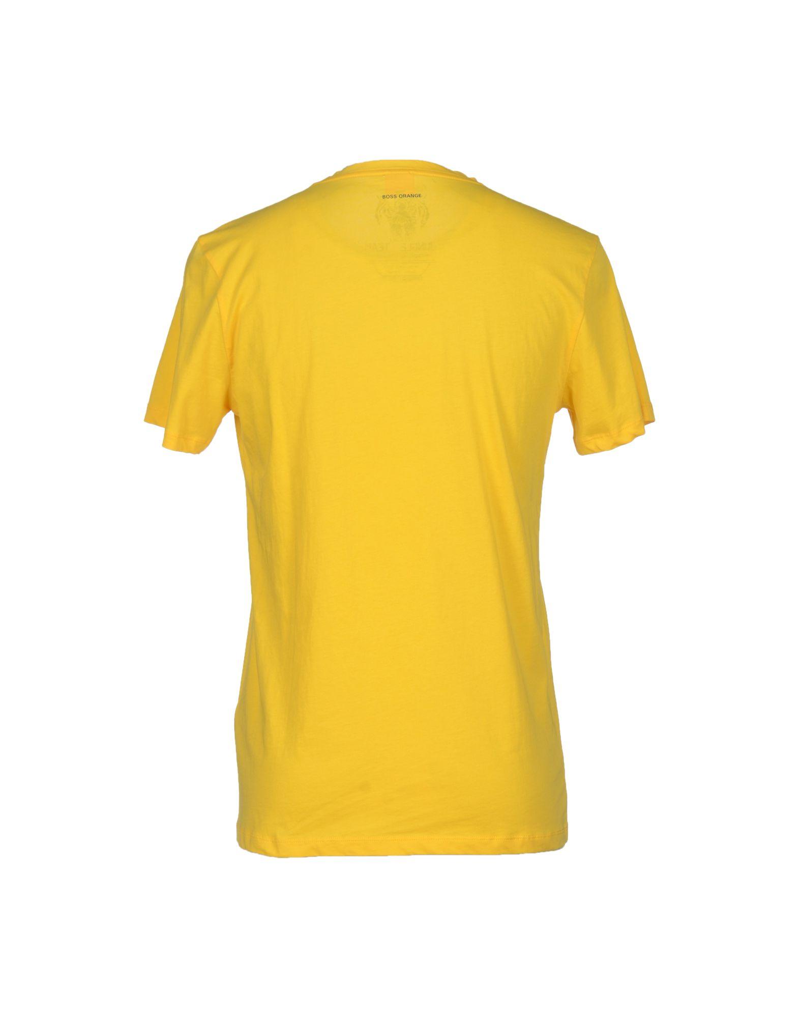 lyst boss orange t shirt in yellow for men. Black Bedroom Furniture Sets. Home Design Ideas