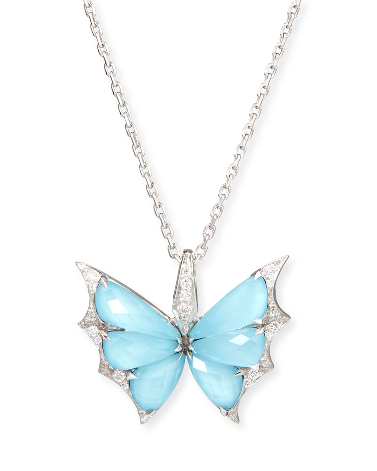 ea73715fab88 Lyst - Stephen Webster Fly By Night Crystal Haze Pendant Necklace in ...