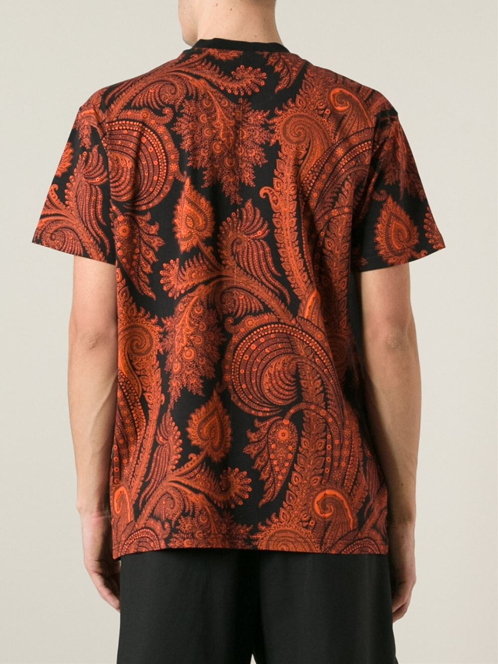 Lyst Givenchy Paisley Print T Shirt In Black For Men