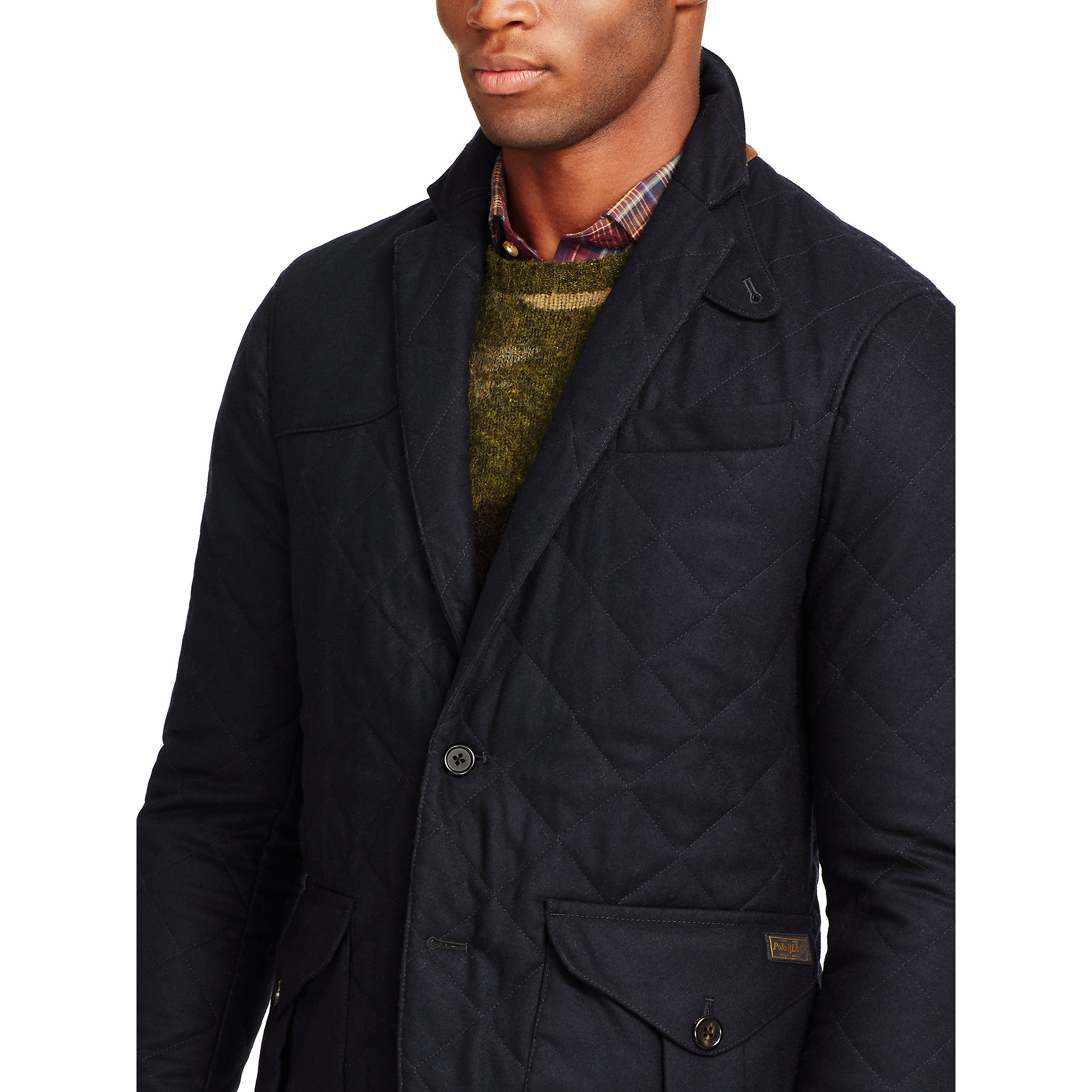 Lyst Polo Ralph Lauren Quilted Wool Sport Coat In Blue