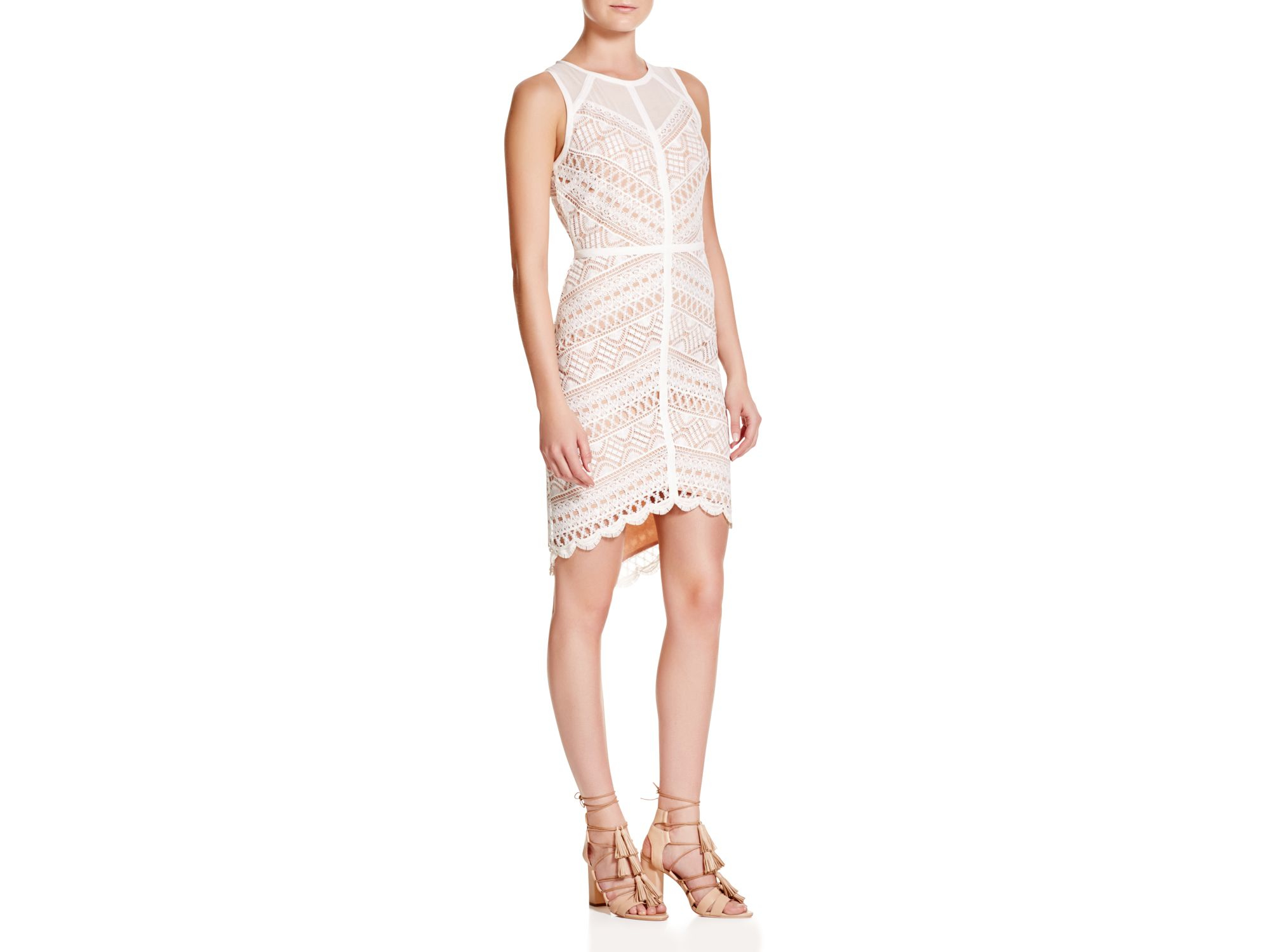Lyst - Adelyn Rae Lace Dress in Pink c1d76ffdbf