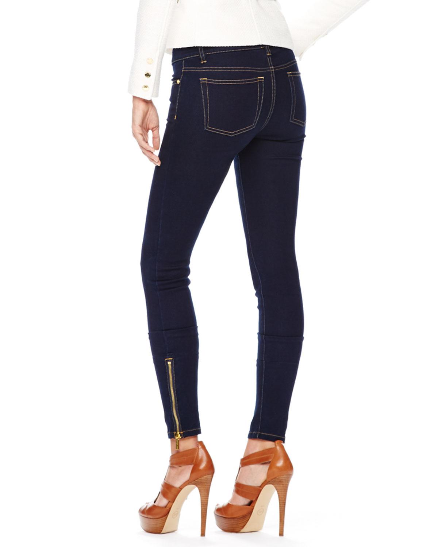 919dca37bb0a2 Lyst - MICHAEL Michael Kors Jet Set Legging Jeans in Blue