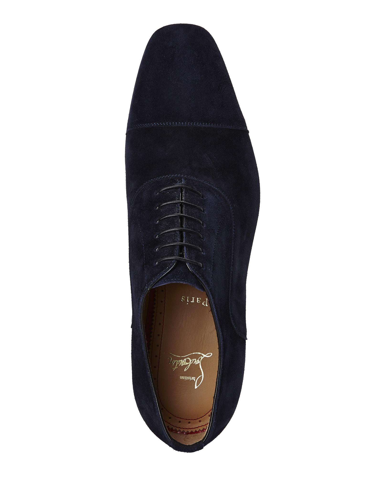 e56c2ae0701 Christian Louboutin Blue Navy Greggo Oxfords for men