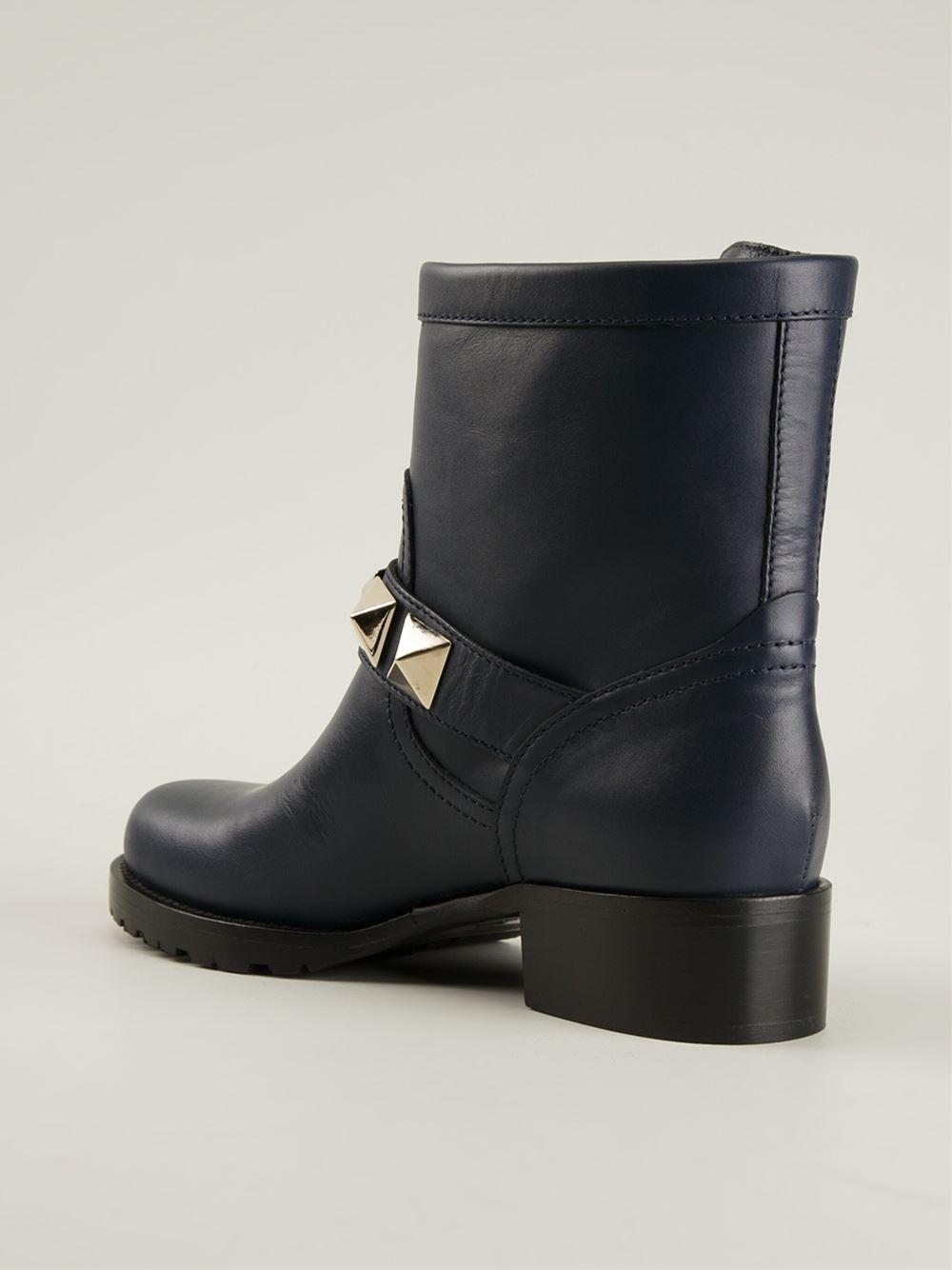 e1030f9226f9 Gallery. Previously sold at  Farfetch · Women s Biker Boots Women s  Valentino ...