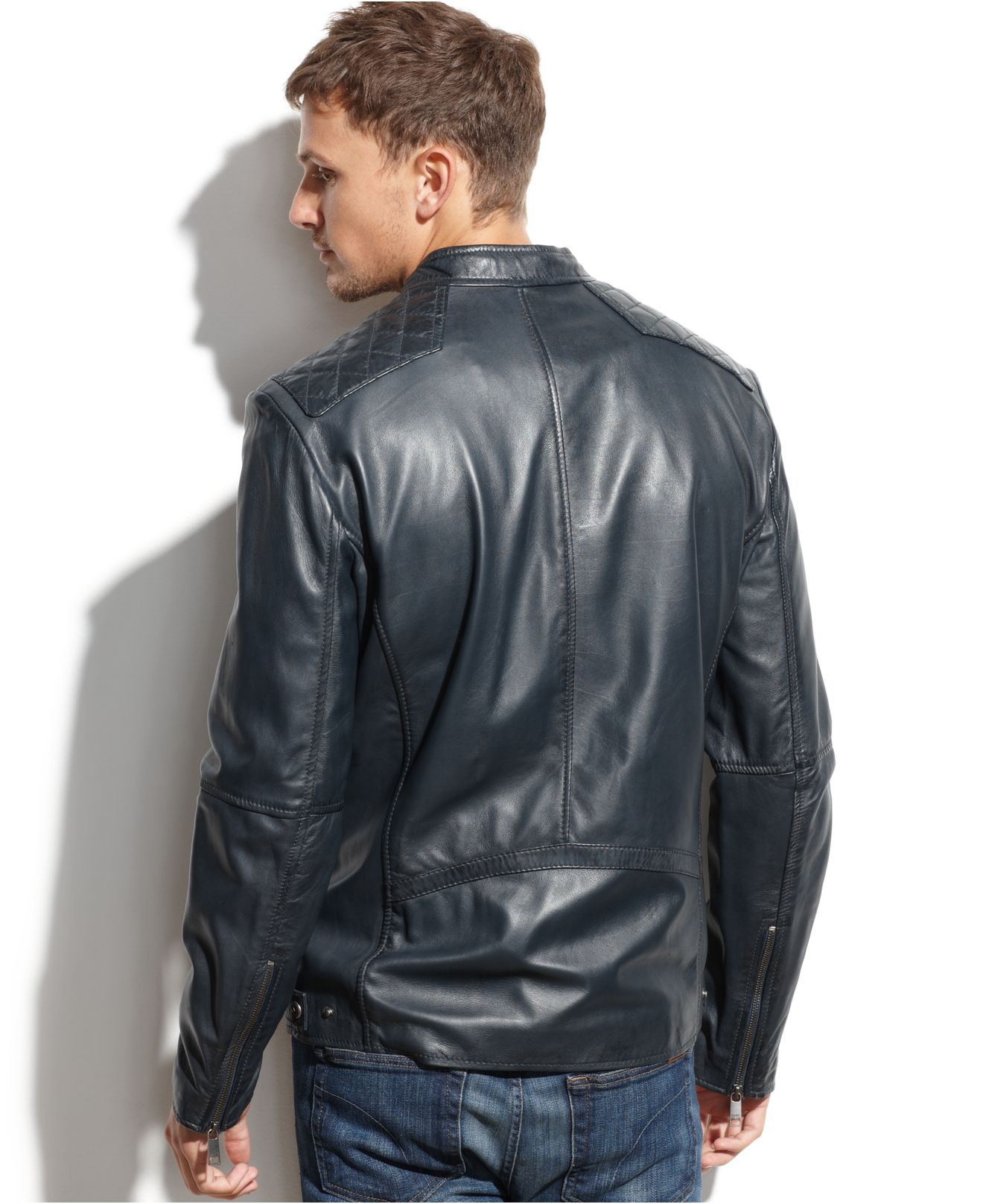 Lyst Marc New York Quincy Glove Leather Jacket With