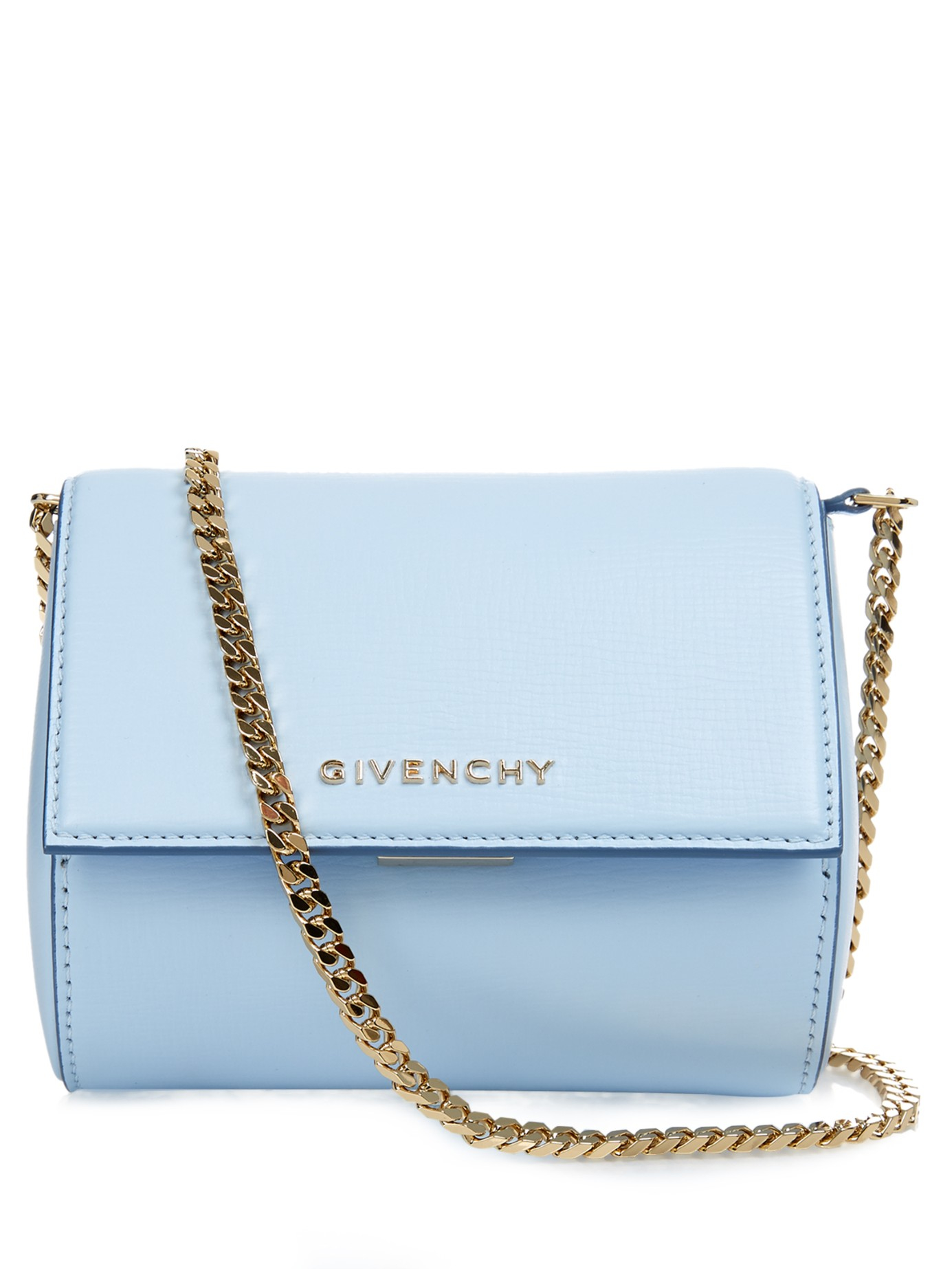 9d783e430ec5 Lyst - Givenchy Pandora Box Leather Cross-Body Bag in Blue