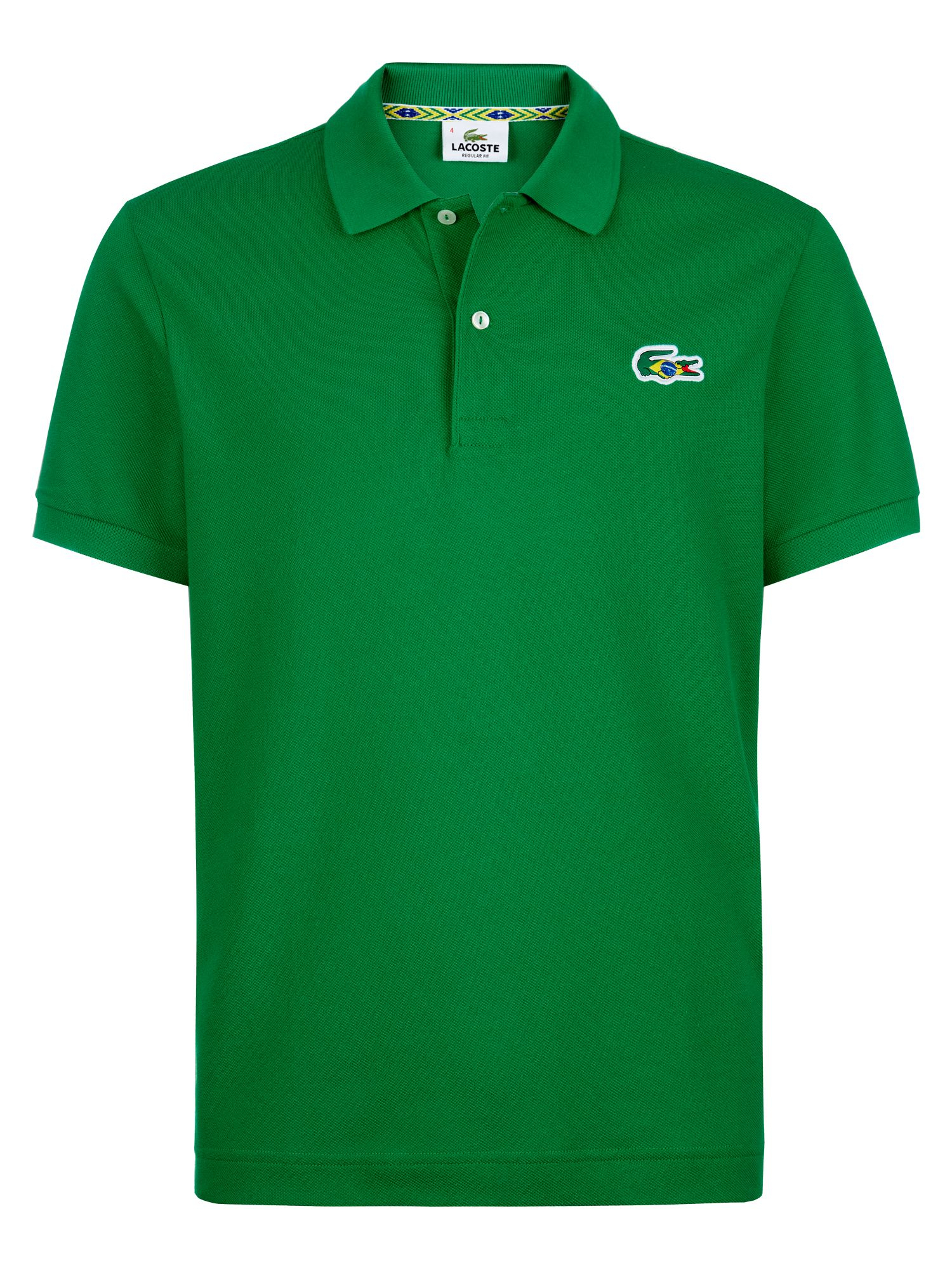 Lacoste brazil themed polo shirt in green for men lyst for Boys lacoste polo shirt