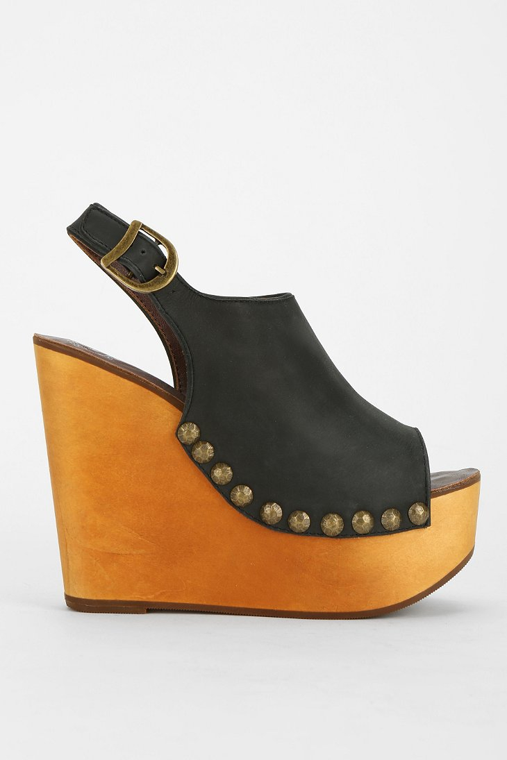 Jeffrey Campbell Snick Peeptoe Platform Wedge Sandal In