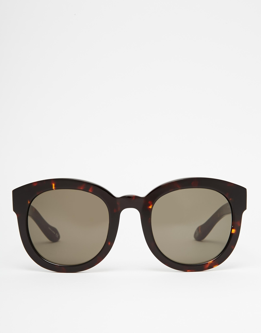 b9b62c6963 Lyst - Vivienne Westwood Anglomania Round Sunglasses in Black