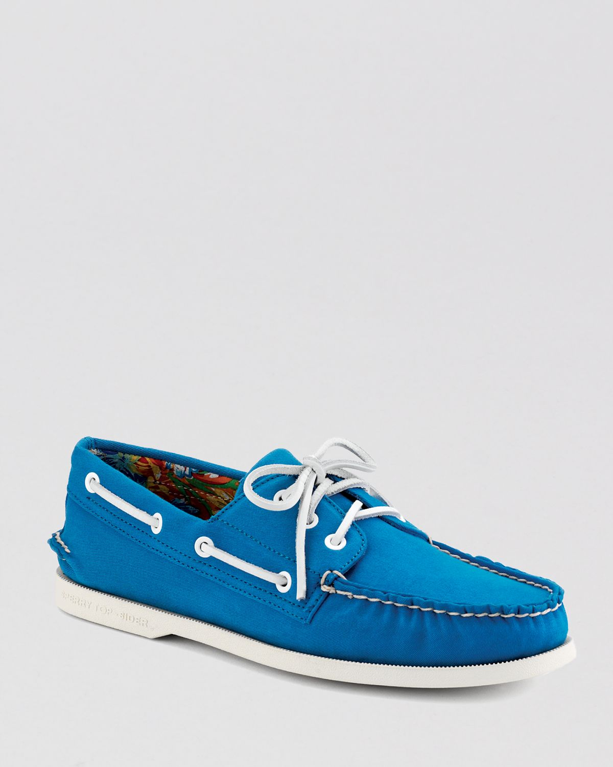 sperry top sider a o 3 eye canvas boat shoes in blue for