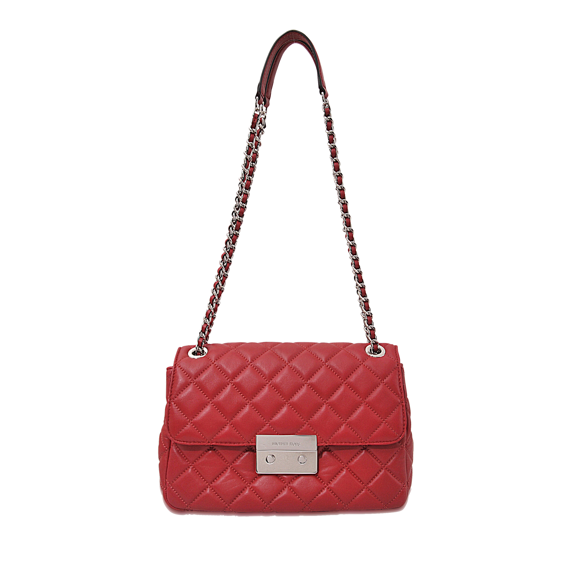 Lyst Michael Michael Kors Sloan Lg Chain Shoulder Bag In Red