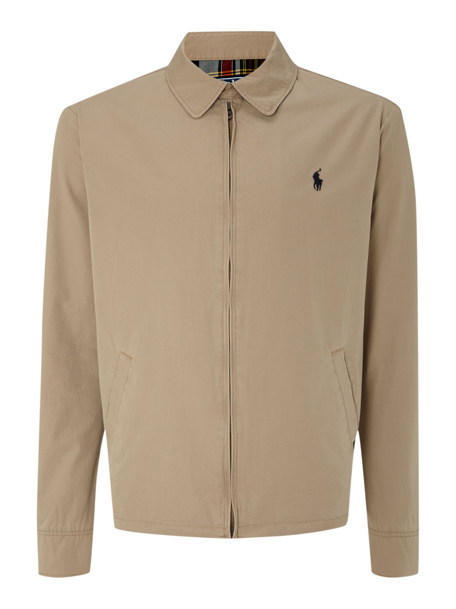 Polo ralph lauren Classic Landon Windbreaker Jacket in Natural for ...