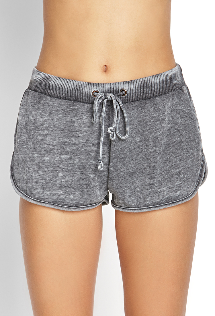 ccb30e34 Forever 21 Gray French Terry Dolphin Shorts