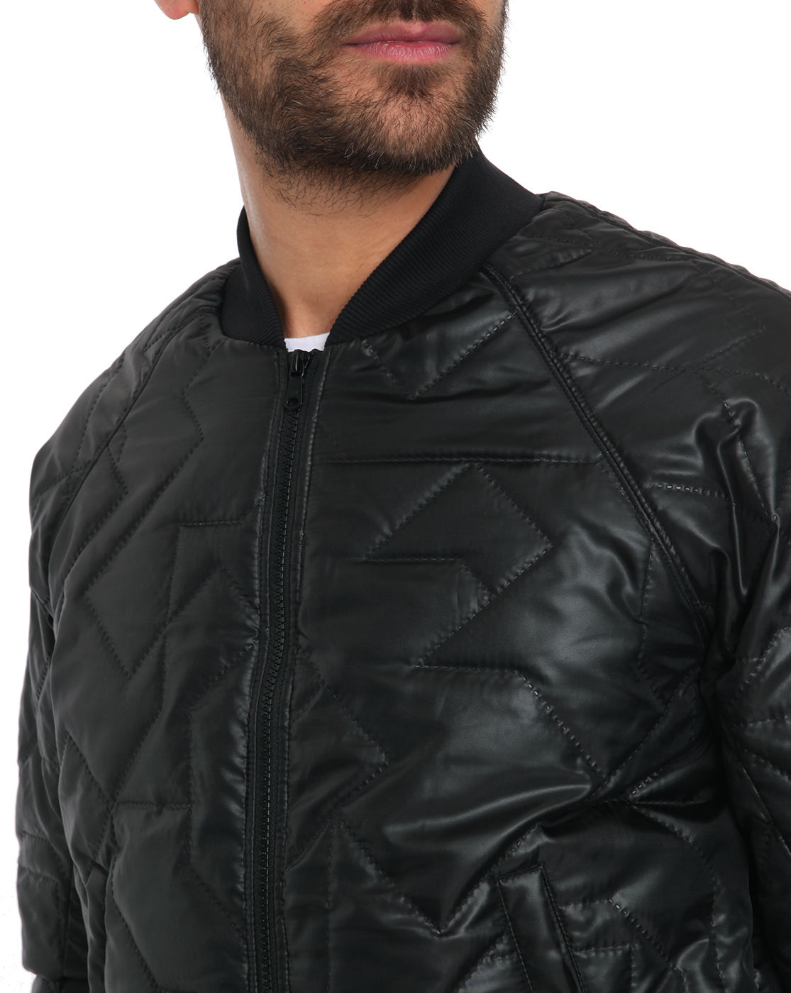g star raw vivial black quilted nylon bomber jacket in black for men lyst. Black Bedroom Furniture Sets. Home Design Ideas