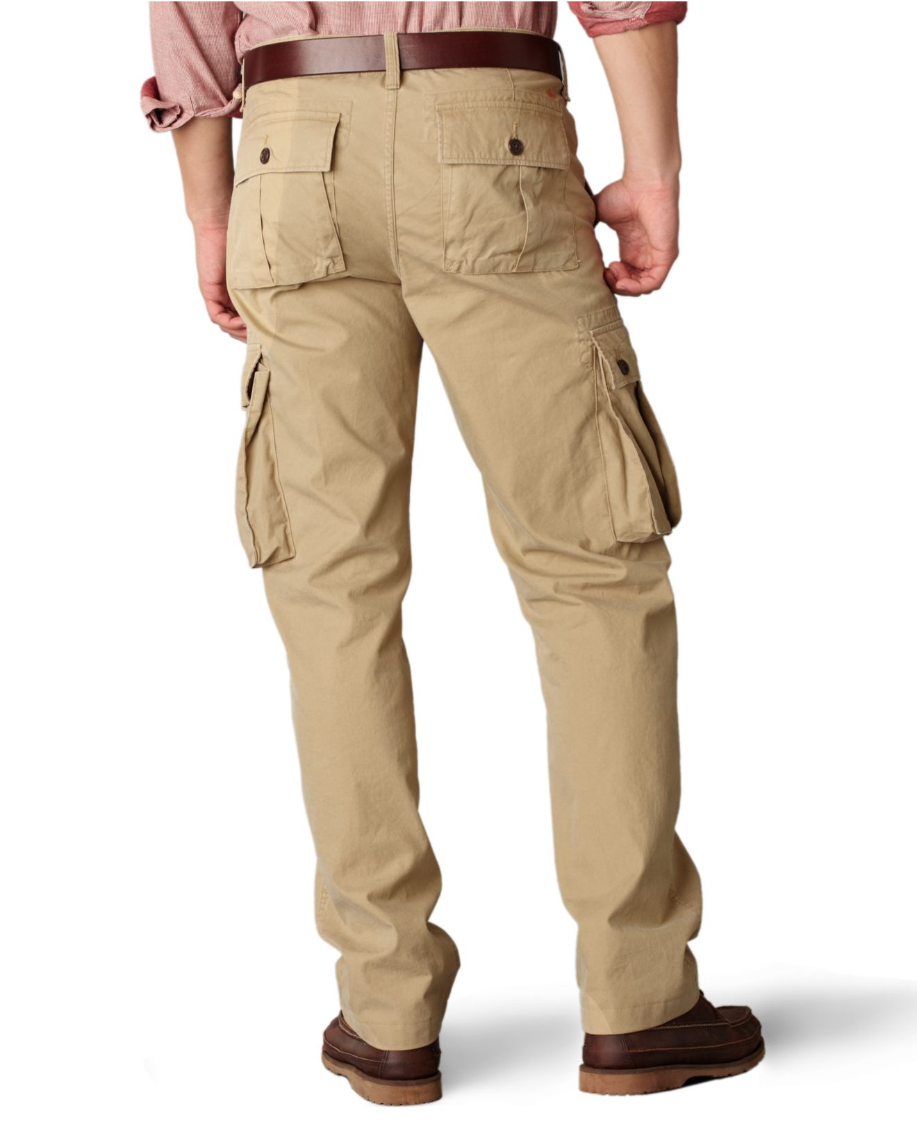 Lyst Dockers Bellowed Pocket Cargo In Natural For Men