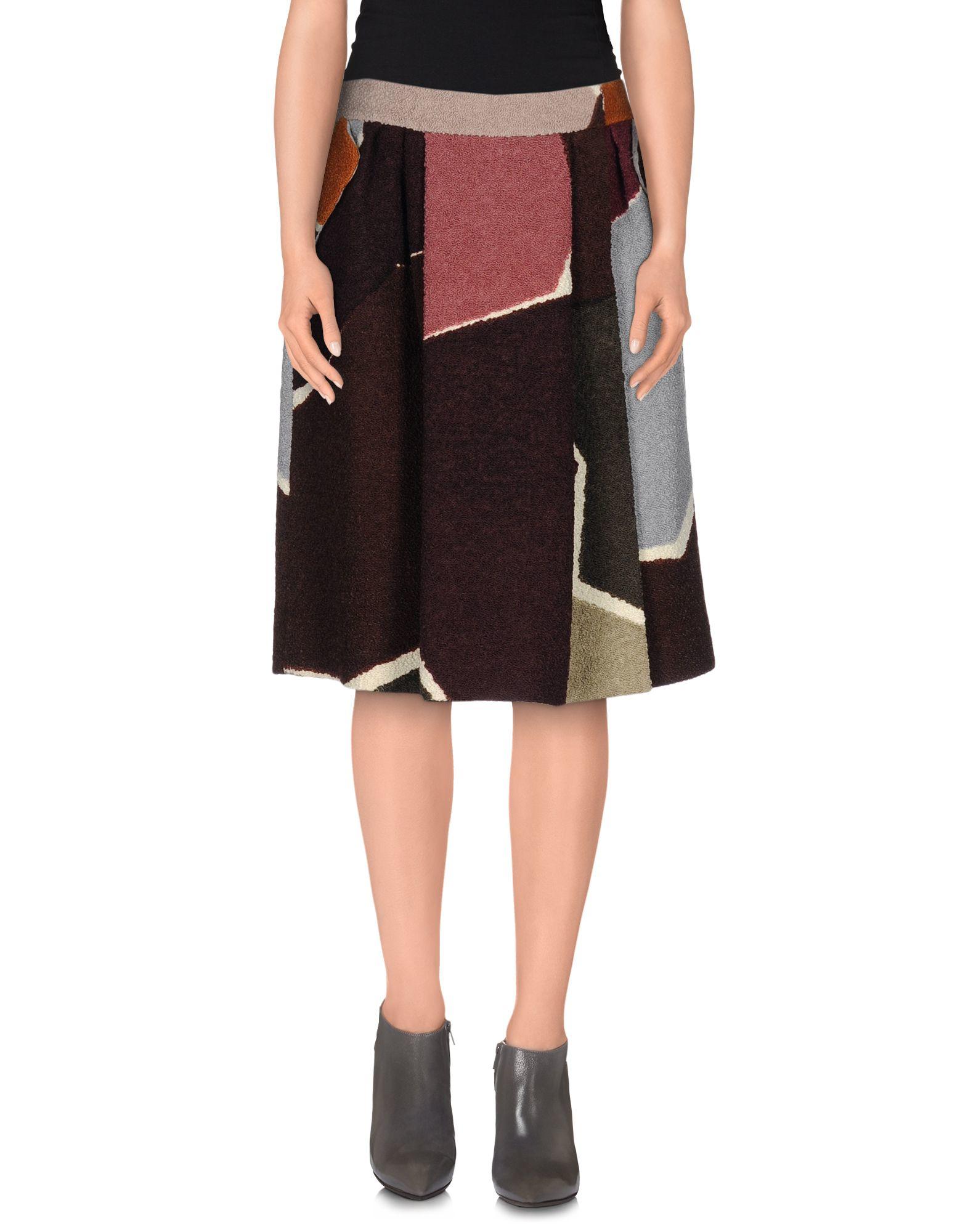 missoni knee length skirt in brown brown save 41