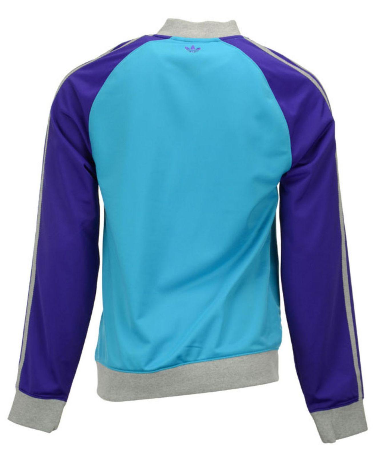 adidas Firebird TT W jacket blue purple turquoise
