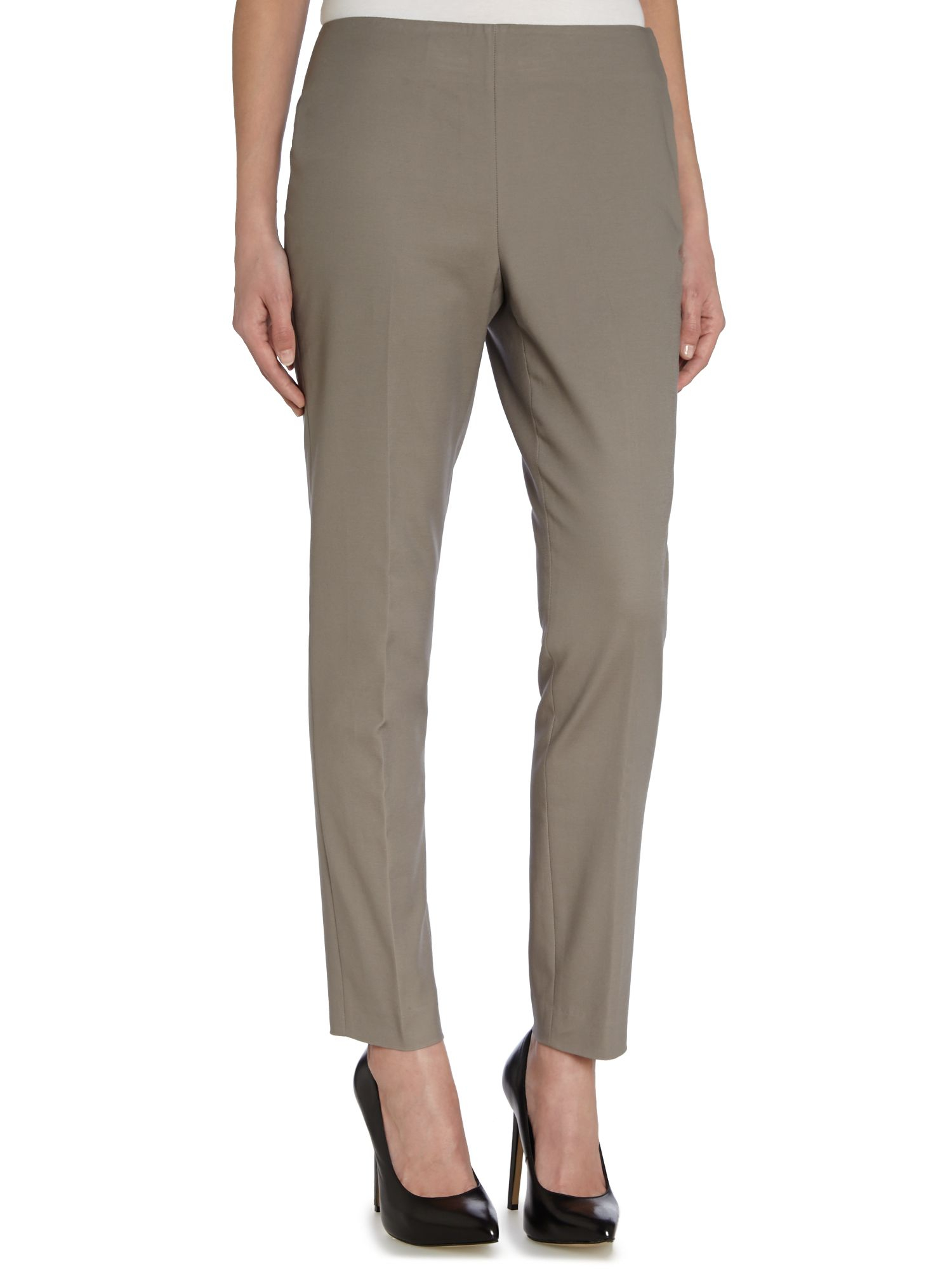 Vince Camuto Skinny Side Zip Trousers In Gray Lyst